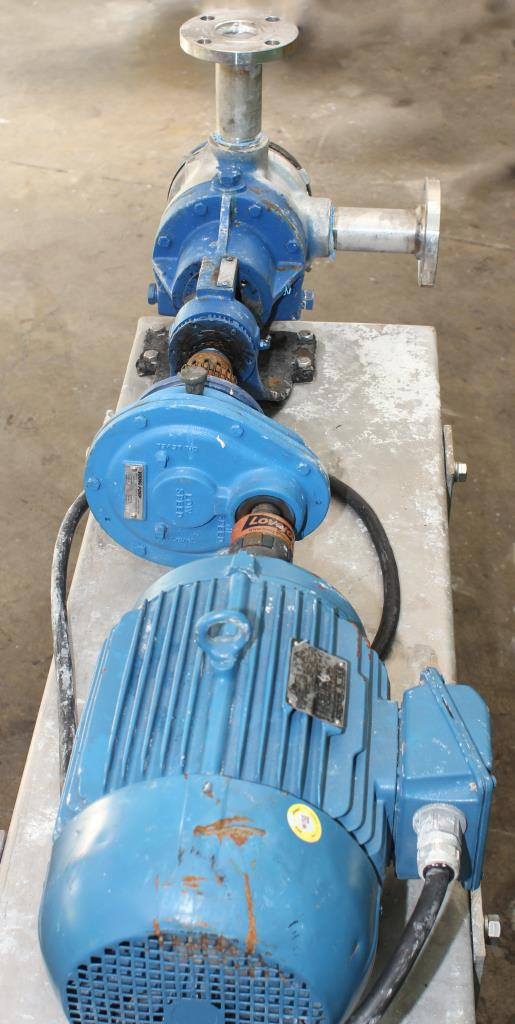 Pump 2 inlet Viking Pumps Inc. positive displacement pump model KK4724, 5 hp, Stainless Steel4