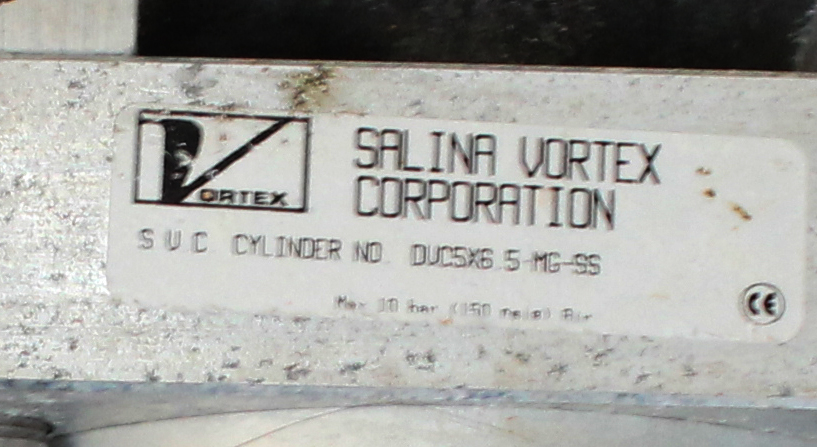 Valve 6 Salina Vortex Corp. gate valve, Pneumatic, Stainless Steel Contact Parts2
