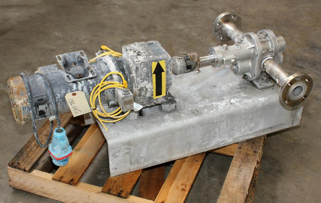 Pump 1.5 NPT inlet Pulsafeeder Eco gear pump positive displacement pump model GA 12 ACCKK24, 1 hp, 316 SS1