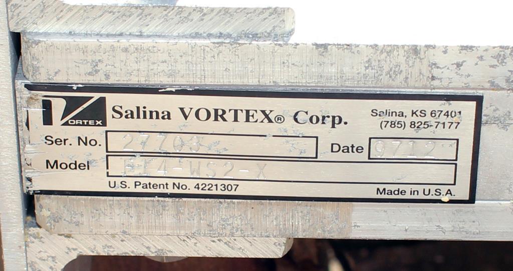 Valve 14 Salina Vortex gate valve, pneumatic, Stainless Steel Contact Parts2