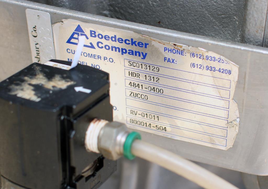 Valve 12 Stainless Steel Boedecker Company rotary airlock feeder model HDR 13123