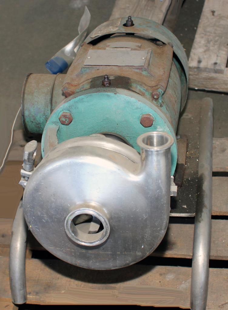 Pump 2x1.5x6.25 centrifugal pump, 5 hp, Stainless Steel Contact Parts2