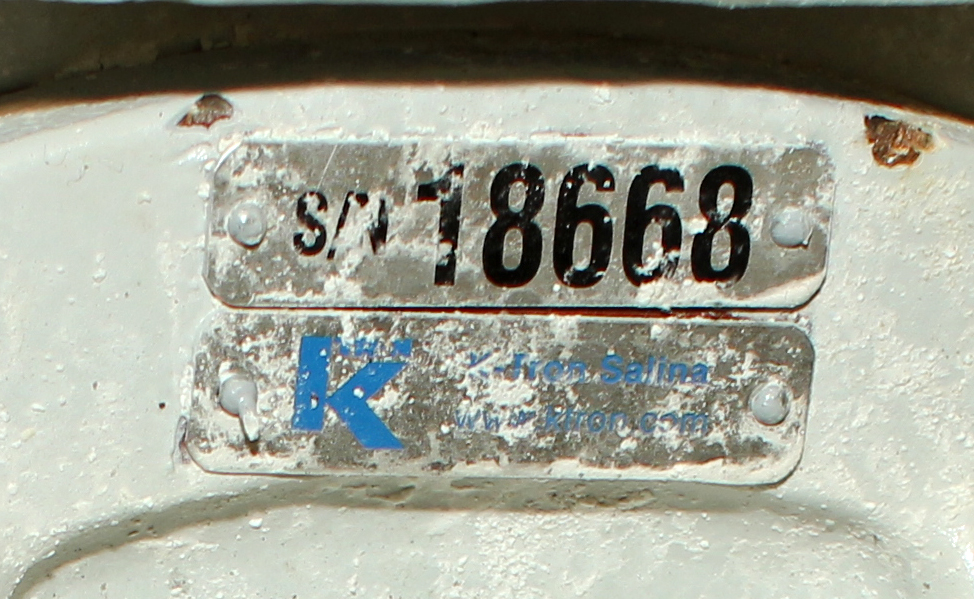 Valve 8 CS K-Tron Premier Pneumatic rotary airlock feeder6