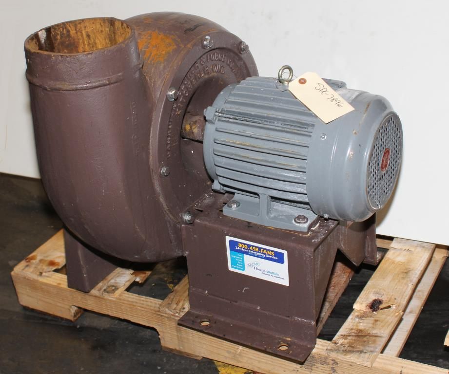 Blower centrifugal fan Howden Buffalo model 33 Volume CW-360D, 5 hp, Cast Iron1