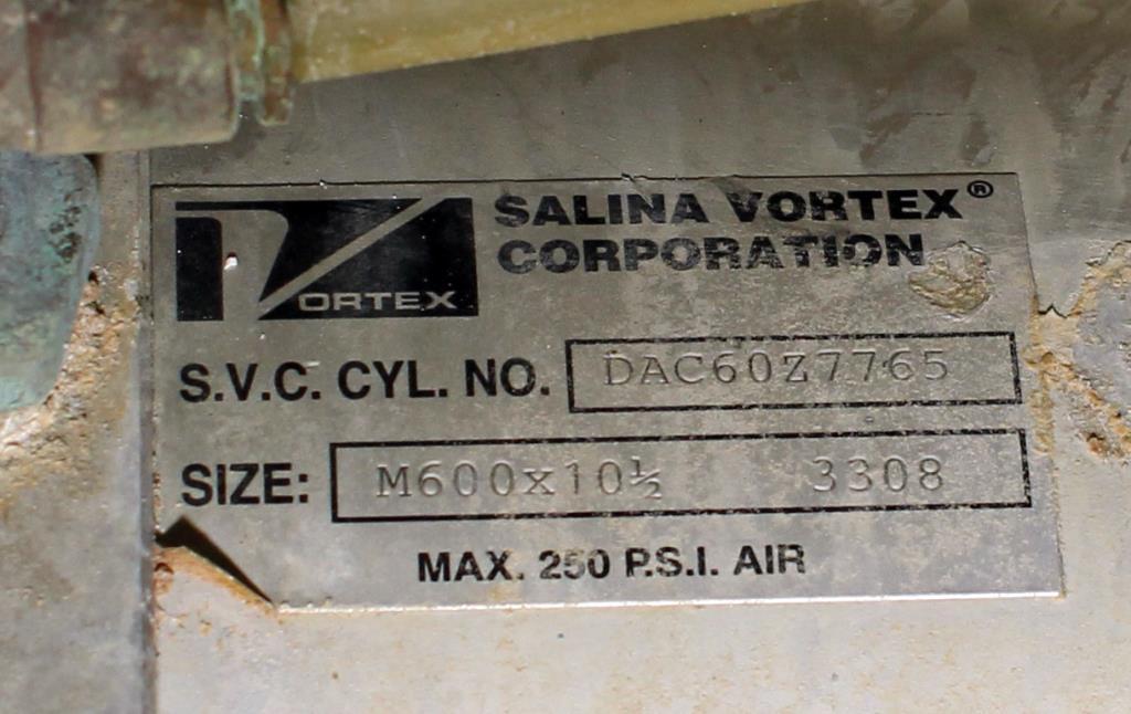 Valve 10 Salina Vortex gate valve, pneumatic, Stainless Steel Contact Parts4