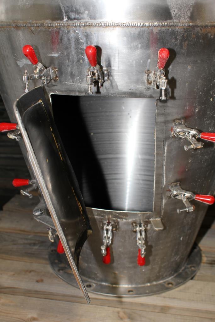 Bin Hopper Silo 16 cu.ft., bulk storage bin, Stainless Steel3