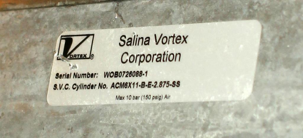 Valve 10 Salina Vortex gate valve, pneumatic, Stainless Steel Contact Parts2