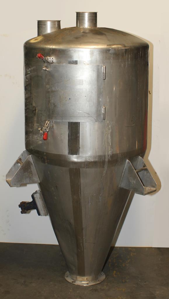 Bin Hopper Silo 10.42 cu.ft., bulk storage bin, Stainless Steel1