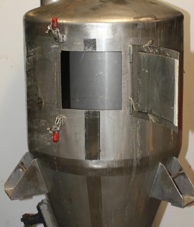 Bin Hopper Silo 10.42 cu.ft., bulk storage bin, Stainless Steel2