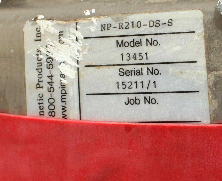 Filtration Equipment Magnetic Products Inc. magnetic separator, 6 model NP-R210-DS-S3