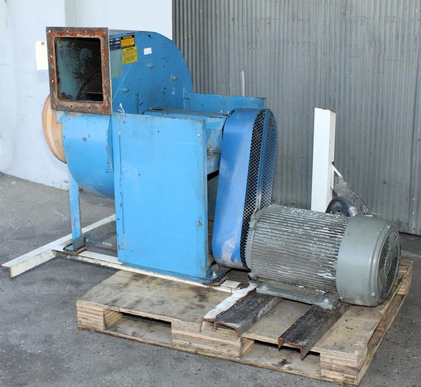 Blower up to 4752 cfm centrifugal fan Twin City Fan & Blower model Size 911, 20 hp, CS2