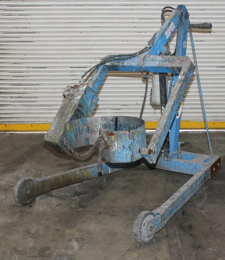 Material Handling Equipment drum dumper, 800 lbs. Morse model 400AM-72-114, 722