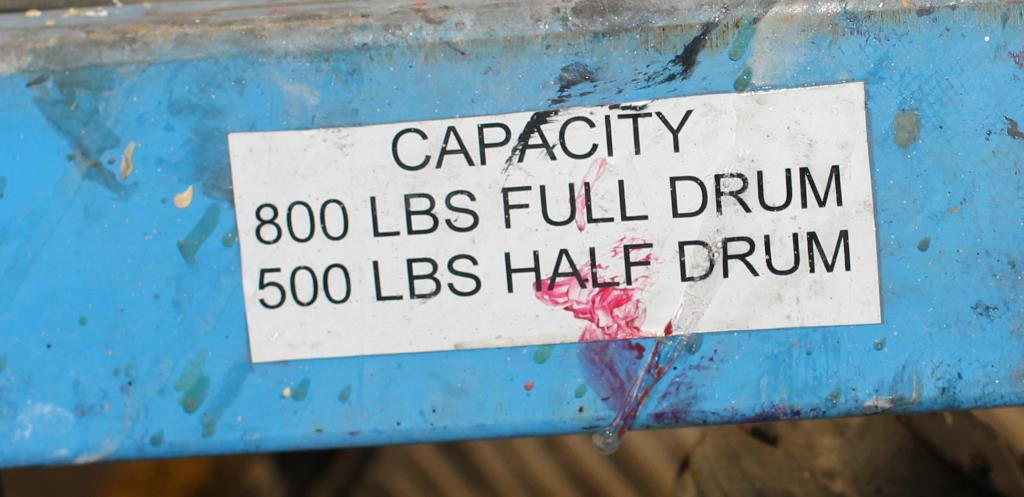 Material Handling Equipment drum dumper, 800 lbs. Morse model 400AM-72-114, 723