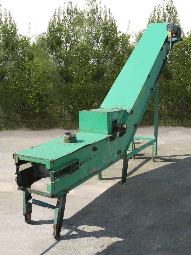 Conveyor inclined belt conveyor CS, 14w x 15 long, 86-3/4 discharge height1