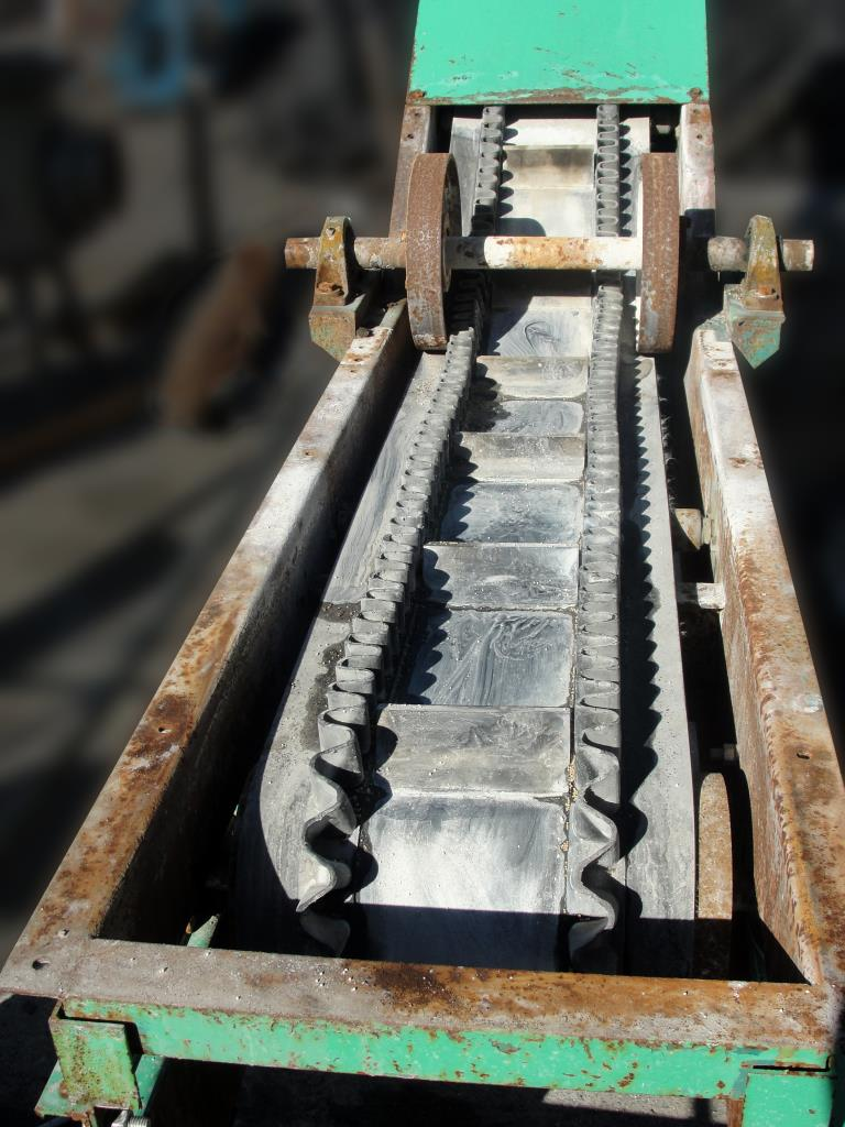 Conveyor inclined belt conveyor CS, 14w x 15 long, 86-3/4 discharge height2