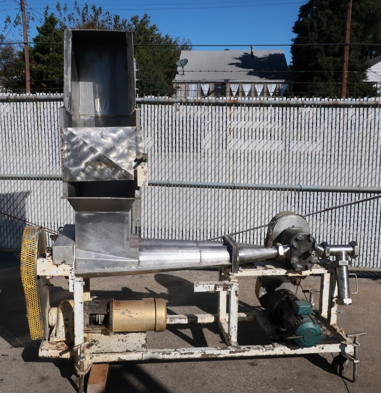 Pump 3 inlet Tri Clover positive displacement pump model PR 25-3TC1, 1 hp, Stainless Steel