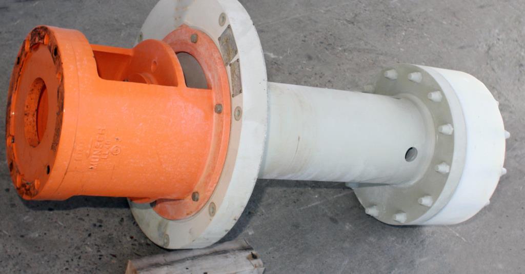 Pump 65x40x280 mm Munsch Chemie-Pumpen vertical centrifugal pump model TNP-KL 65 40-250, Polypropylene3