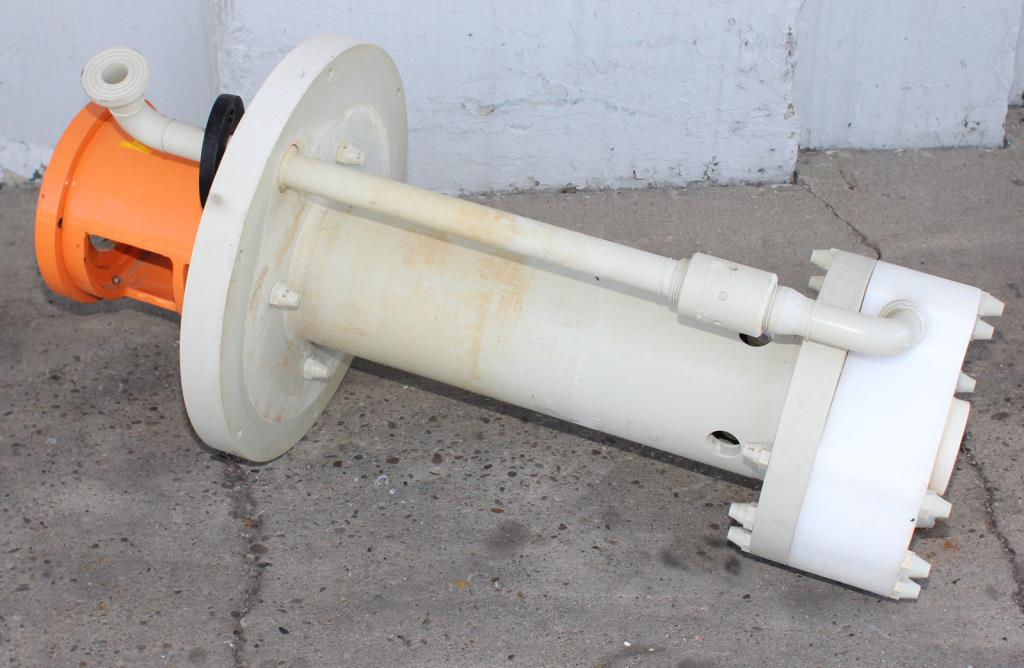 Pump 50x32x230 mm Munsch Chemie-Pumpen vertical centrifugal pump model TNP-KL 50 32-200-, Polypropylene