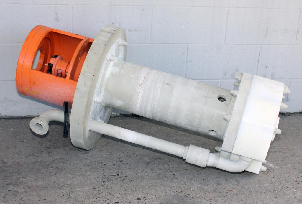 Pump 65x40x280 mm Munsch Chemie-Pumpen vertical centrifugal pump model TNP-KL 65 40-250, Polypropylene1