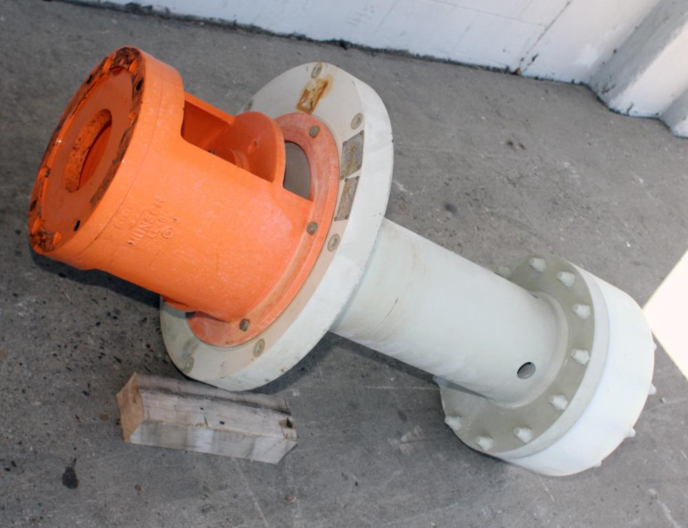 Pump 65x40x280 mm Munsch Chemie-Pumpen vertical centrifugal pump model TNP-KL 65 40-250, Polypropylene3