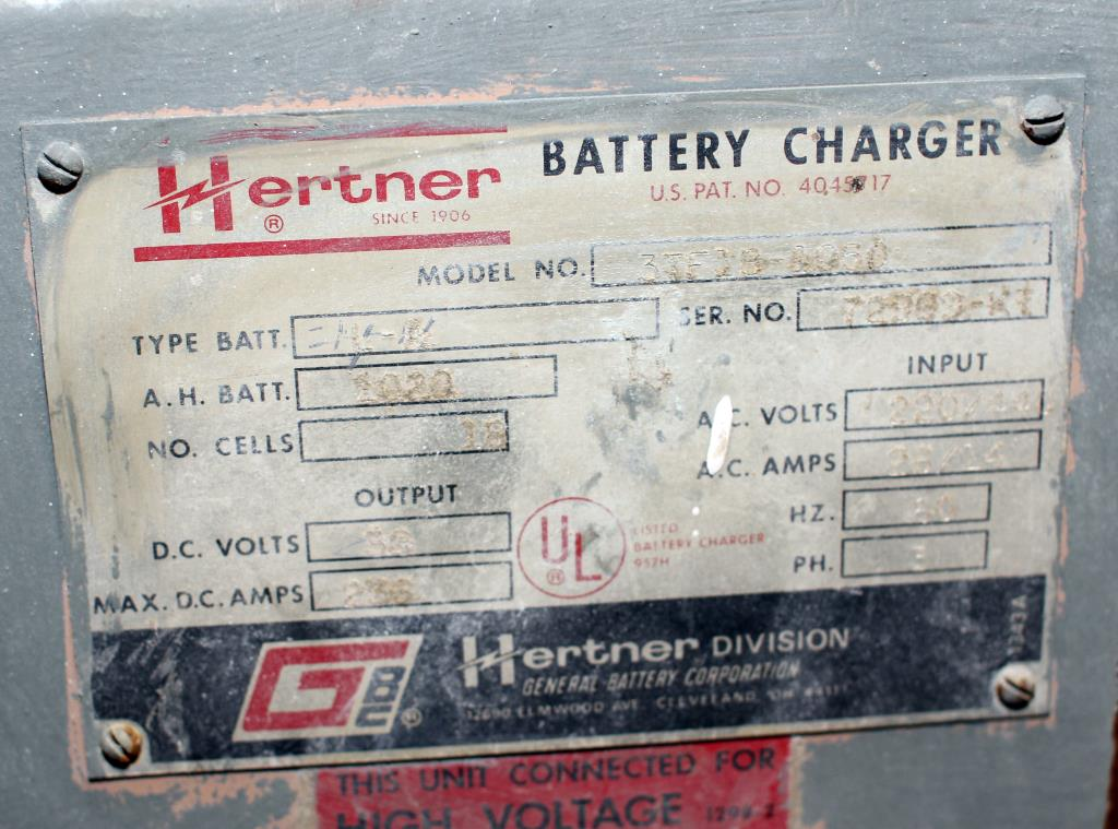 Miscellaneous Equipment battery charger, 36 volts HERTNER2