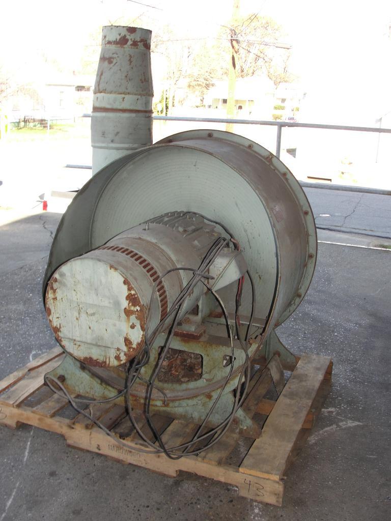 Blower 1430 cfm centrifugal fan Spencer Vaccum Producer model 35 X 20 Cat No., 25 hp, CS3