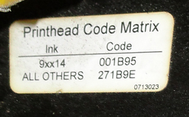 Coder Markem ink-jet coder model 9064, 1 print heads, Up to 680 ft./min3
