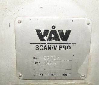 Conveyor VAV Scan Vibro vibratory conveyor Stainless Steel, 16 dia x 148l3