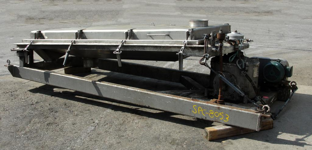Screener and Sifter 24 sq.ft. Rotex rectangular shaker screener, Stainless Steel Contact Parts