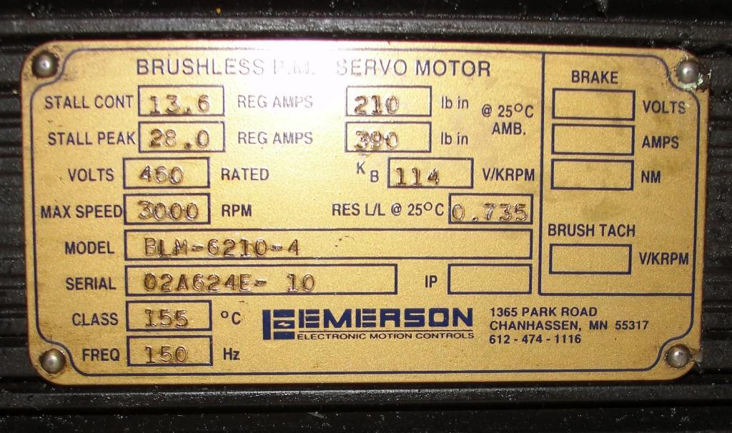 Miscellaneous Equipment Emerson model BLM-6210-4 CS2