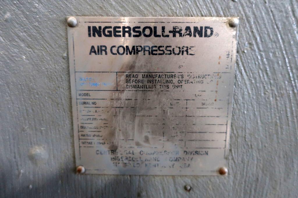 Compressor 250 hp Ingersol-Rand air compressor model CH5-18M1H, 1817 cfm3