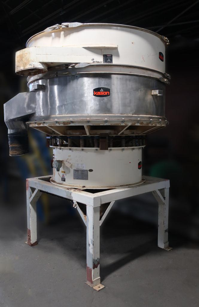 Screener and Sifter 72 Kason circular shaker screener, single decks, Stainless Steel Contact Parts