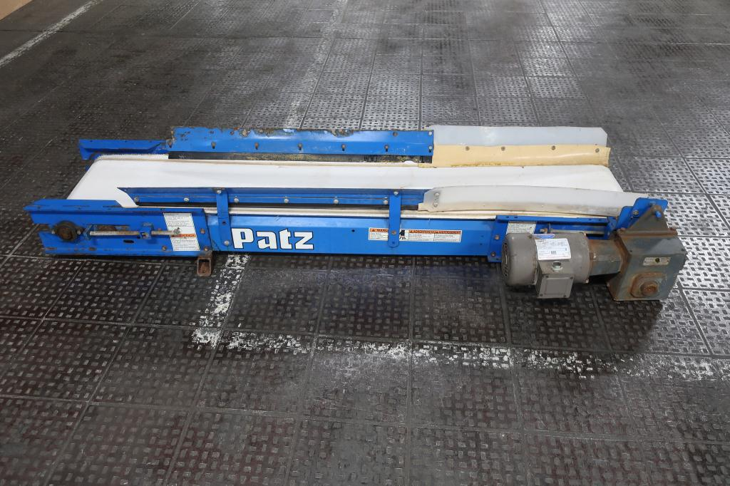 Conveyor Patz belt conveyor CS, belt length 83L  x 12 1/2 w4