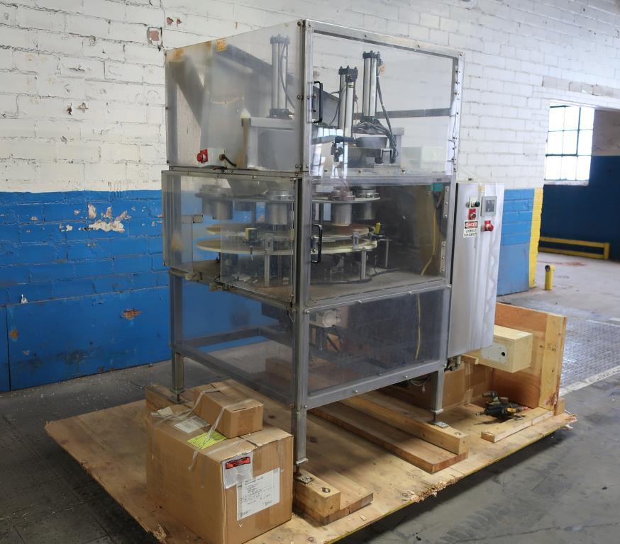 Filler 4 Tamp Cylinders filling tubes Mac Manufacturing volumetric filler model SSRF 101, 5000 RPM max1