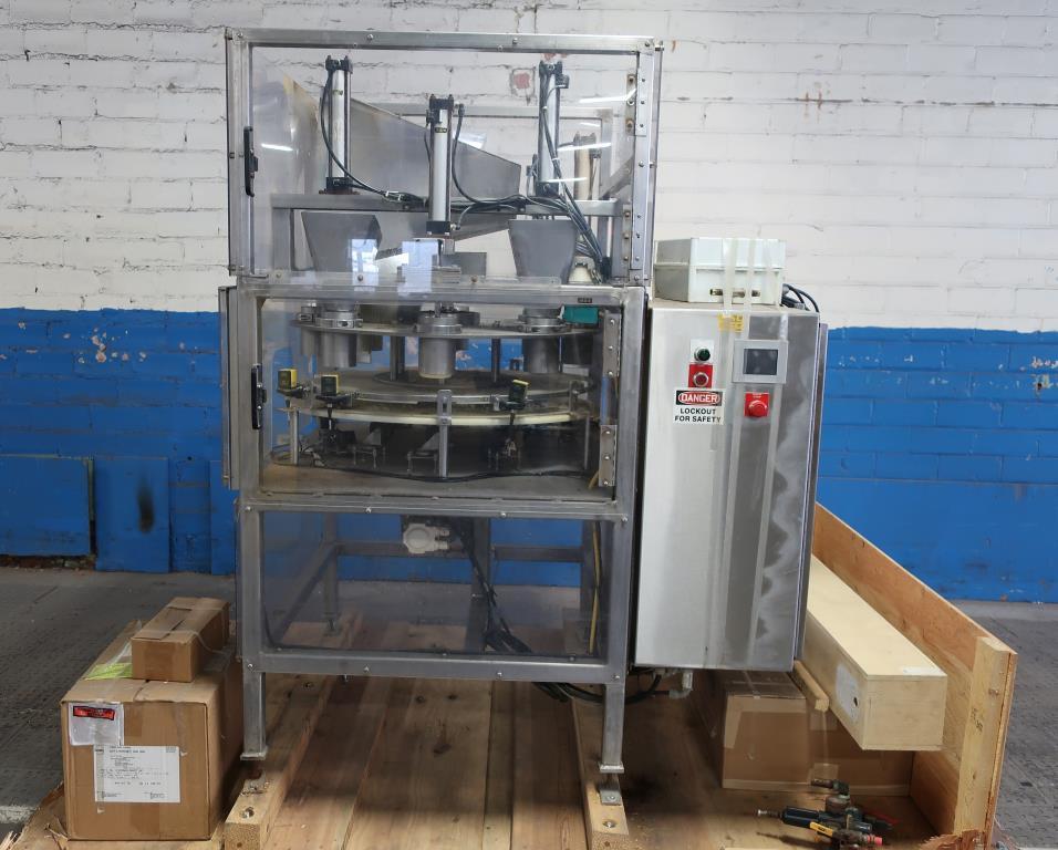 Filler 4 Tamp Cylinders filling tubes Mac Manufacturing volumetric filler model SSRF 101, 5000 RPM max2