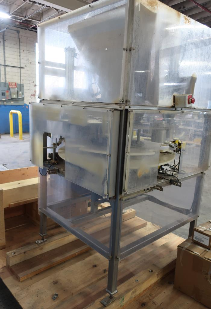 Filler 4 Tamp Cylinders filling tubes Mac Manufacturing volumetric filler model SSRF 101, 5000 RPM max4