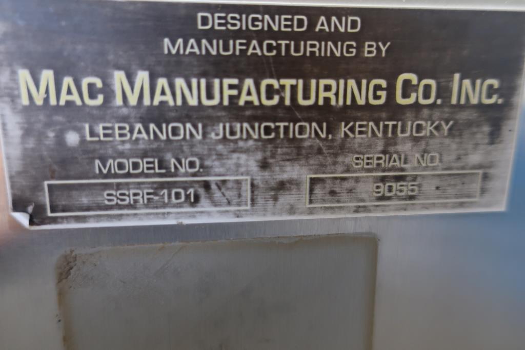 Filler 4 Tamp Cylinders filling tubes Mac Manufacturing volumetric filler model SSRF 101, 5000 RPM max8
