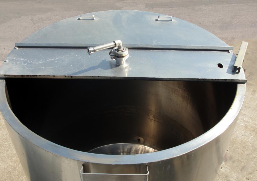 Tank 550 gallon vertical tank, Stainless Steel, bottom only jacket, dish Bottom6