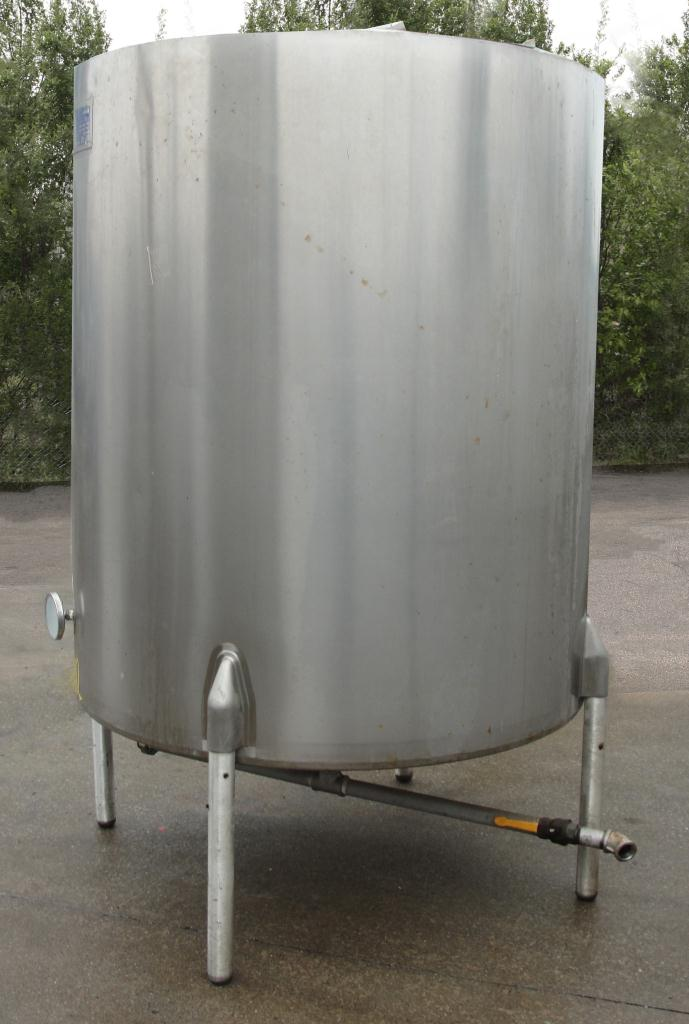 Tank 550 gallon vertical tank, Stainless Steel, bottom only jacket, dish bottom8