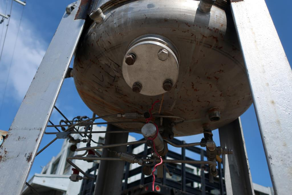 Reactor 500 liter capacity New Brunswick Scientific Co. bioreactor 40 psi internal, 35 psi jacket, stop center agitator, 304 SS5