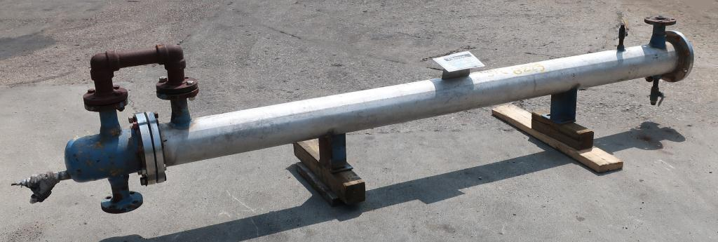 Heat Exchanger 54 sq.ft. Chemineer Inc. shell and tube heat exchanger, 200 PSI psi shell, 150 psi internal, Stainless Steel1