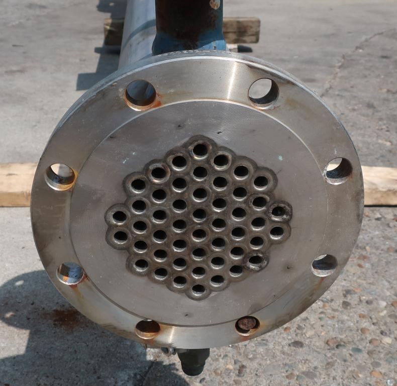 Heat Exchanger 54 sq.ft. Chemineer Inc. shell and tube heat exchanger, 200 PSI psi shell, 150 psi internal, Stainless Steel3