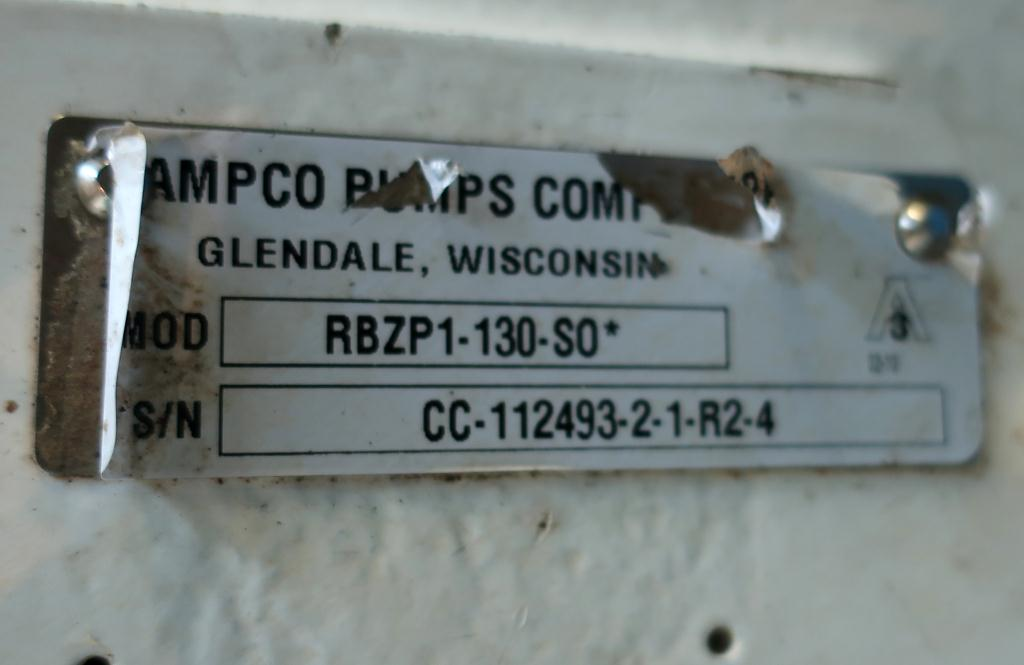 Pump 3 inlet AMPCO positive displacement pump model RBZP1-130-S0, Stainless Steel3