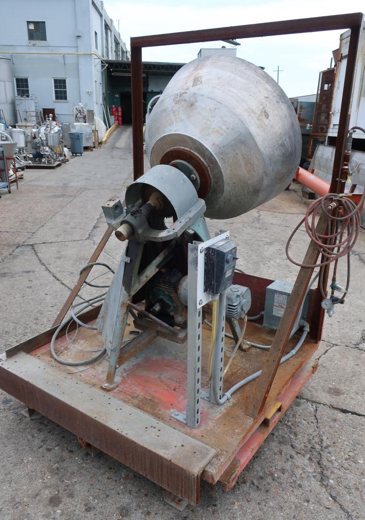 Enrober 35 dia x 26 deep coating pan Stainless Steel2