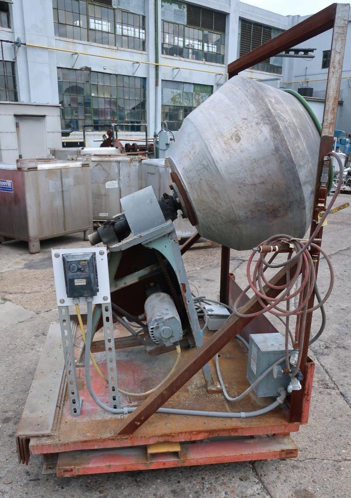 Enrober 35 dia x 26 deep coating pan Stainless Steel3