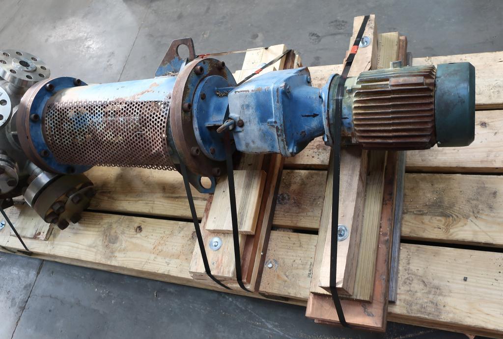 Reactor 70 gallon Hoppes Inc. chemical reactor, 1700 psi internal, FV-175 psi jacket, 5 hp top entering agitator7