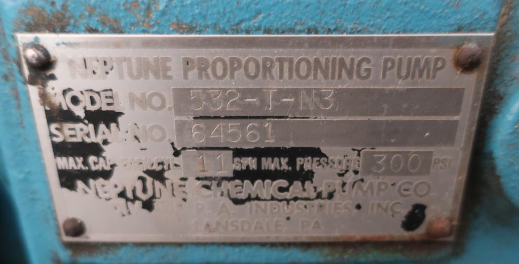 Pump 1 Neptune Chemical Pump diaphragm metering pump, CS4
