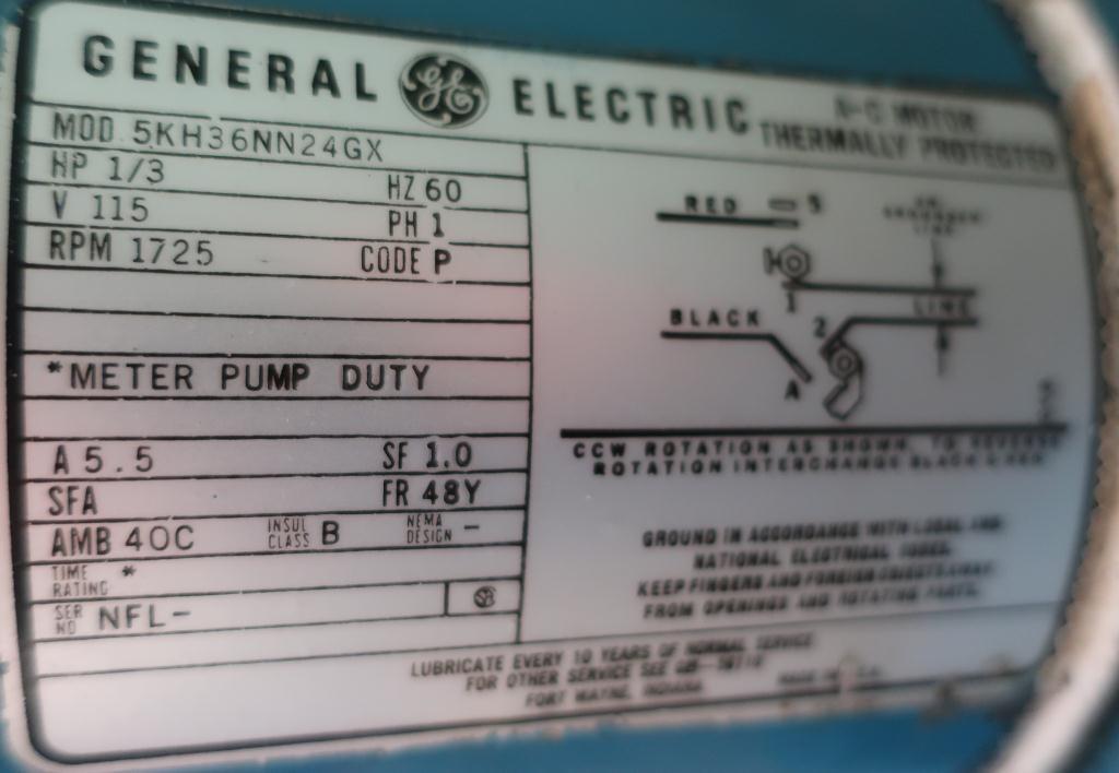 Pump 1 Neptune Chemical Pump diaphragm metering pump, CS5