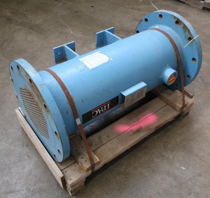 Heat Exchanger 93.2 sq.ft. Ipac 2000 Inc. shell and tube heat exchanger, 200 psi shell, 200 psi internal, 304 SS1