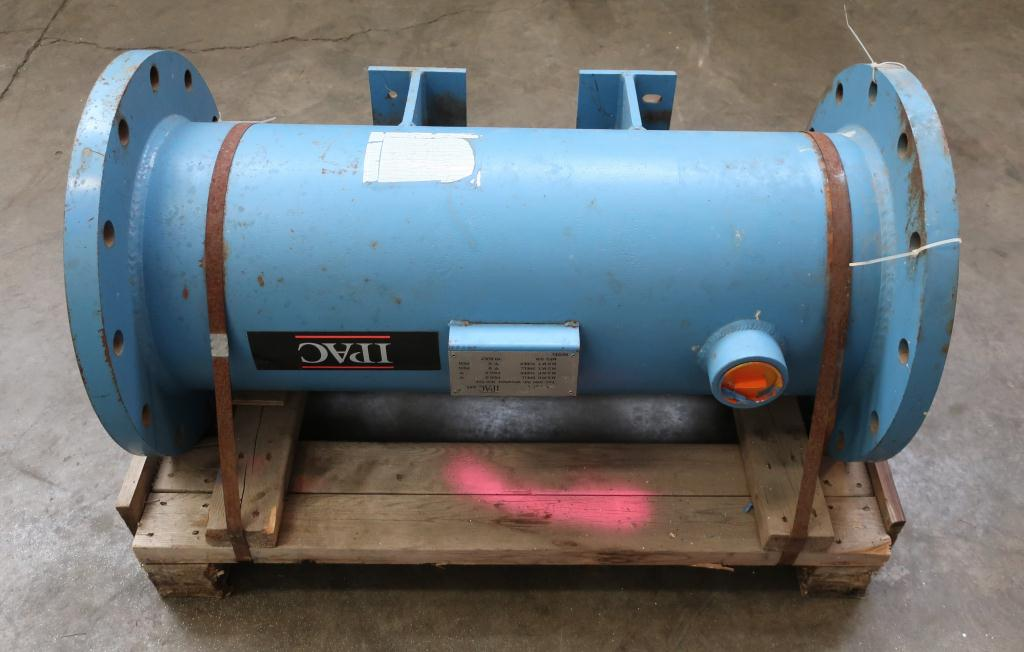 Heat Exchanger 93.2 sq.ft. Ipac 2000 Inc. shell and tube heat exchanger, 200 psi shell, 200 psi internal, 304 SS3